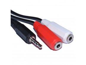 Adaptér pro zapojení dvou mikrofonů do kamery nebo foťáku 2