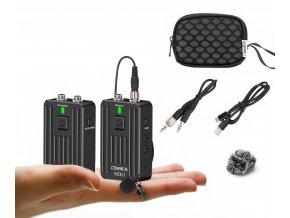 Malý bezdrátový klopový mikrofon COMICA WD01 k foťáku i mobilu 01