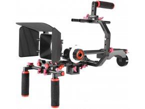 Profesionální kamerový ramenní RIG s modulem ostření, rychloupínací destičkou i závažím 1