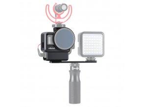 Klec na GoPro 5,6,7, audio adaptér i externí mikrofon Ulanzi V2 Pro 16