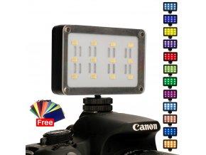 227 CardLite LED malé video světlo s barevnými foliemi 10