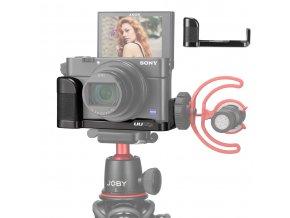 247 L destička, poloviční klec, rig, na kameru Canon G7X se sáňkami pro mikrofon na VLOG 35
