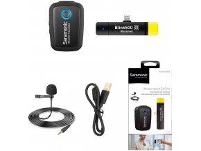 020 Saramonic Blink 500 B3 Bezdrátový klopový mikrofon pro Apple Lightning konektor 0