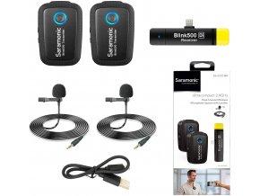Saramonic Blink 500 B4 Duální bezdrátový klopový mikrofon pro Apple Lightning konektor 0