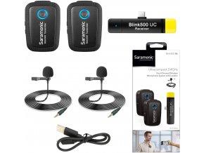 Saramonic Blink 500 B6 Duální bezdrátový klopový mikrofon pro USB C konektor 0