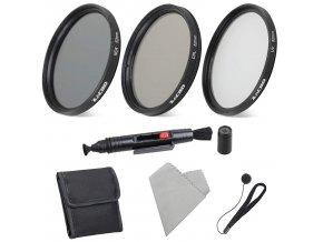 Sada 52mm filtrů UV, CPL a ND4 s čištěním a pouzdrem 1