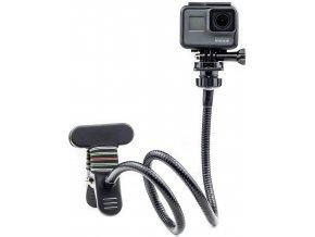 Ohebný držák akční kamery s klipsnou délka 72cm 1