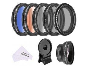 Sada 37mm filtrů pro mobilní telefony 0 400 variabilní ND, CPL, barevné 2
