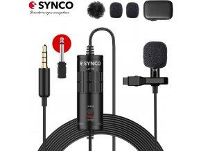 Aktivní klopový mikrofon Synco pro telefon i kameru (5m) 1