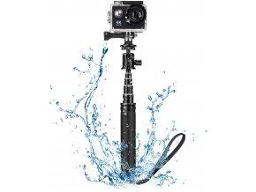 Hliníková vodeodolná selfie tyč pro GoPro s kulovou hlavou 1