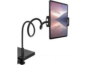 Ohebný držák tabletu i telefonů pro velké tablety jako iPad 12.9 až 232mm Černý 1