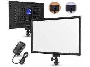 Velmi měkké světlo pro video s regulací teploty a vestavěnou baterií + síť.adaptér 1