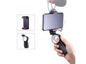 Držák telefonu do ruky včetně sáněk pro mikrofon nebo světlo 3