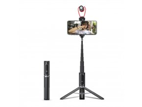 Ulanzi selfie tyč se stativem a sáňkami pro světlo nebo mikrofon a dálkovým ovladačem 8