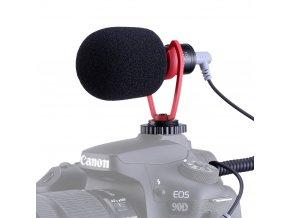 Kvalitní směrový mikrofon Sairen pro telefony i foťáky s větrnou ochranou, pouzdrem i kabeláží 10