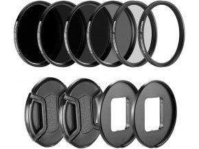 Sada ND a CPL filtrů pro GoPro 5, 6 a 7 Black, včetně dvou krytek 1