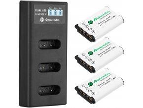 Sada dvou NP baterií s nabíječkou pro Sony RX100, X3000 apod. 1