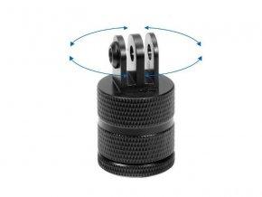Otoční adaptér z GoPro úchytu na stativový závit kovový 4