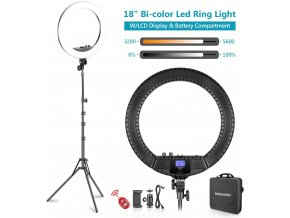 Kruhové LED světlo LED RING 18 55W s regulací intenzity i teploty 1