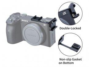 Přídavné dvojité boční sáňky blesku pro Sony A6600 2