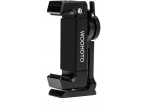 Multifunkční držák telefonu na stativ kovový, otočný se sáňkami a závity 1