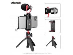 Vlogovací set směrového mikrofonu, selfie tyče se stativem a držáku telefonu 1