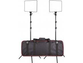 Viltrox VL 200T set dvou světel, včetně stativů, adaptérů, brašny a dálk.ovl. 1