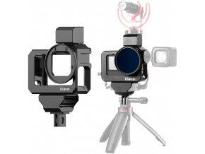 Kovová klec na GoPro Hero 9, audio adaptér, mikrofon, i filtry 101