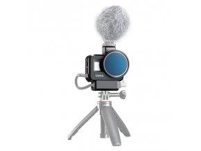 Klec na GoPro 8, audio adaptér i externí mikrofon 3