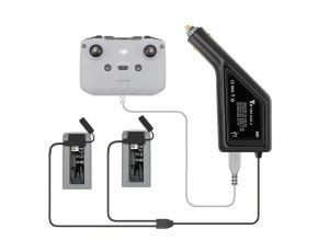 Nabíječka DJI Mavic Mini 1 i 2 baterií do auta, autonabíječka, do zapalovače 1