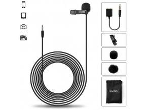 Kvalitní klopový mikrofon Sairen S Lav Black 6m 1