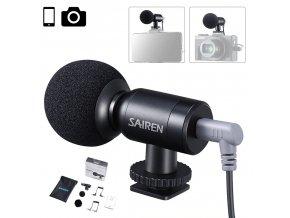 Miniaturní směrový mikrofon Sairen NANO pro mobil i foťák 1