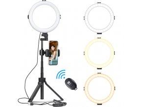 Stolní kruhové světlo LED Ring 8 se stativem, držákem telefonu a dálkovou spouští 1