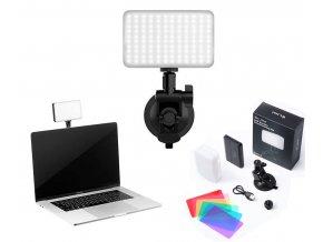 Přísavné LED světlo pro livestream z notebooku, telefonu, nebo tabletu 0