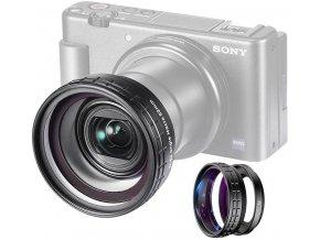 Širokoúhlý a makro objektiv pro SONY RX100 a ZV 1 předsádka 1