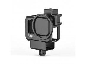 Klec na GoPro 9, audio adaptér i externí mikrofon 1