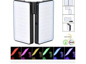 Výkonné duální 20W RGB dobíjecí LED světlo 1