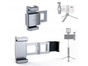 Hliníkový skládací držák Osmo Pocket 1 i 2 a telefonu a mikrofonu, nebo světla 0