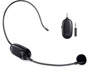 Bezdrátový náhlavní mikrofon k mobilu, kameře i PC, ZOOM, SKYPE, Fitness 1