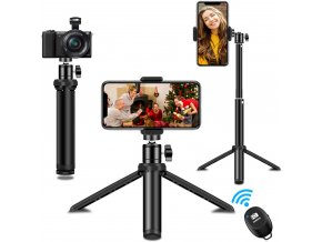 Stativ na telefon nebo foťák se selfie tyčí a dálkovým ovladačem 10 35 cm 1