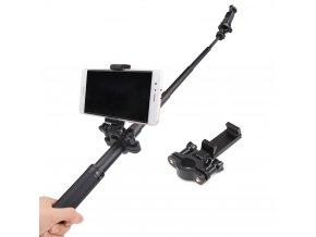 Svorka s držákem telefonu pro selfie tyče na sledování obrazu z akčních kamer 1