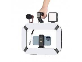 Světelná klec, obouruční LED držák kamery nebo telefonu 4