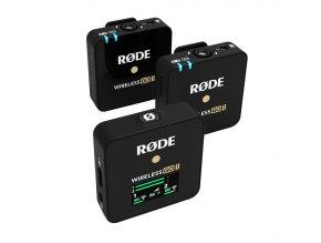 RODE Wireless GO II duální set bezdrátových mikrofonů s funkcí rekordérů, USB Audio, stereo 2