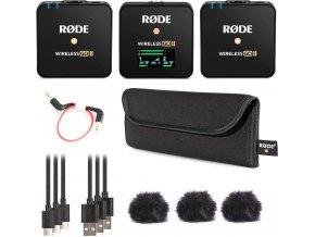RODE Wireless GO II duální set bezdrátových mikrofonů s funkcí rekordérů, USB Audio, stereo 50