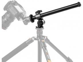 Zalomený nástavec na stativ pro natáčení stolu, rukou směrem dolů 1