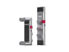 Skládací ALU držák telefonu na stativ se dvěma sáňkami a bočním závitem 1