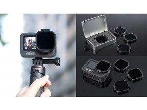ND32 Filtr pro GoPro Hero 9 přímo na kameru 6