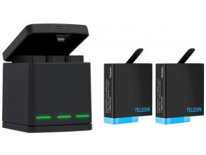 Sada 2 náhradních baterií s nabíječkou pro GoPro 5, 6, 7, 8 a Hero 2018 1
