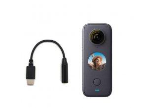 Adaptér pro mikrofon 3.5mm do kamery Insta360 One X2 3