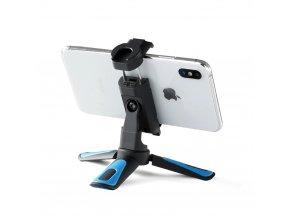 Malý otočný držák mobilu, stojánek i adaptér na stativ, včetně sáněk pro mikrofon 4